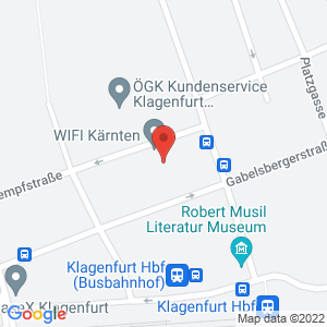 Google Map of Europaplatz 1, 9020 Klagenfurt