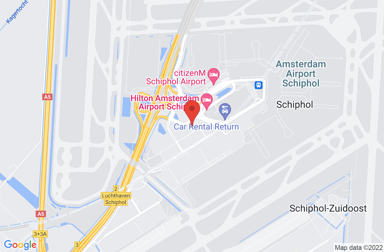 Airport Coordination Netherlands on Google Maps