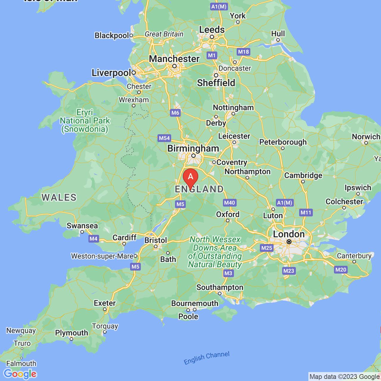 Evesham, England Map