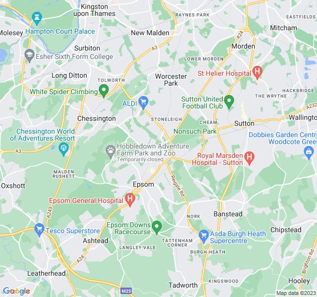 Website Designer Ewell Google map of location