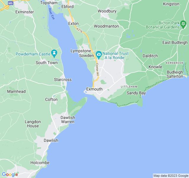 Website Designer Exmouth Google map of location