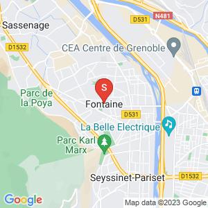 Carte Serrurier Fontaine Isère - 38