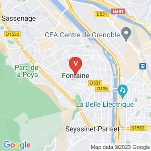 Carte Vitrier Fontaine Isère - 38