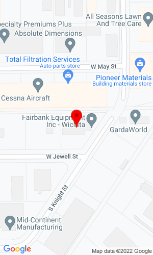 Google Map of Fairbank Equipment, Inc. 3700 Jewell , Wichita, KS, 67213,