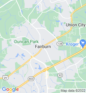 Fairburn GA Map