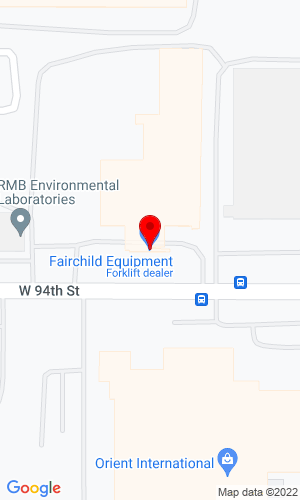 Google Map of Fairchild Equipment 3100 Highway 13 N, Burnsville, MN, 55337