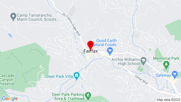 Google Map of Fairfax, CA