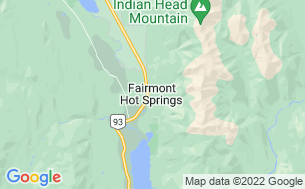 Map of Hoodoos Mountain Resort
