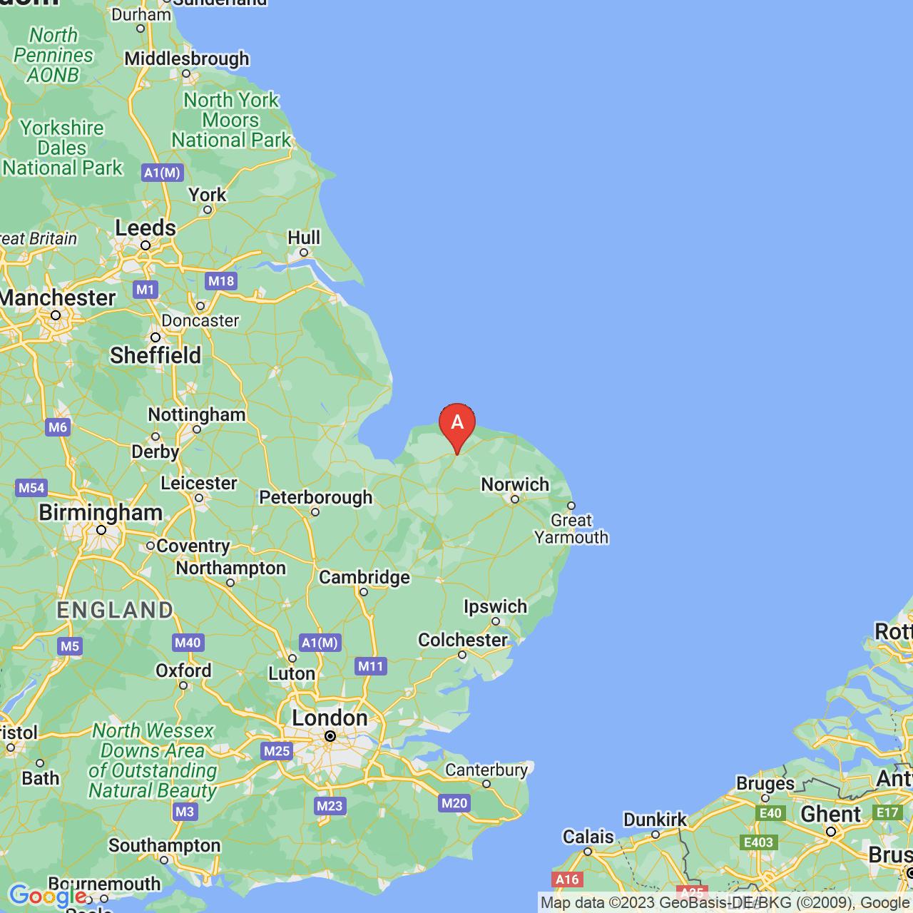 Fakenham, England Map