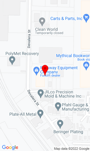 Google Map of Fallsway Equipment Co. Inc. 1277 Devalera Avenue, Akron, OH, 44310