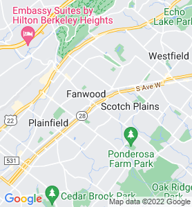 Fanwood NJ Map