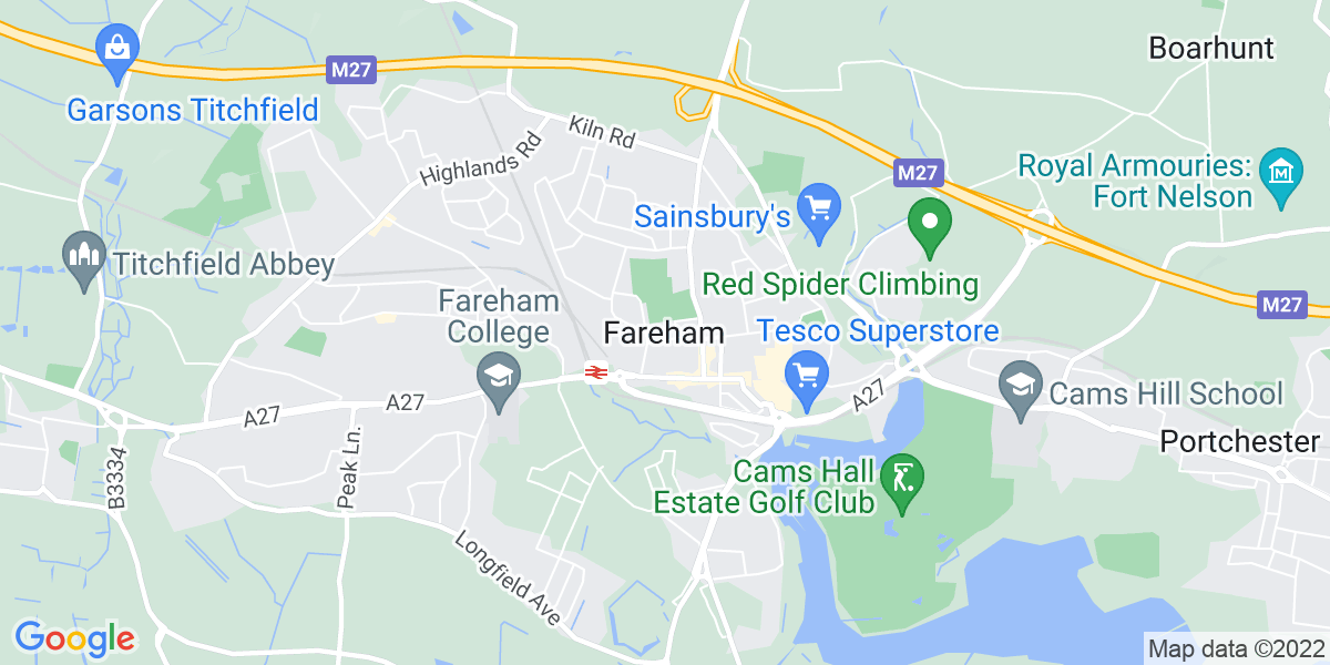 Map: Marine Office Administrator job in Fareham