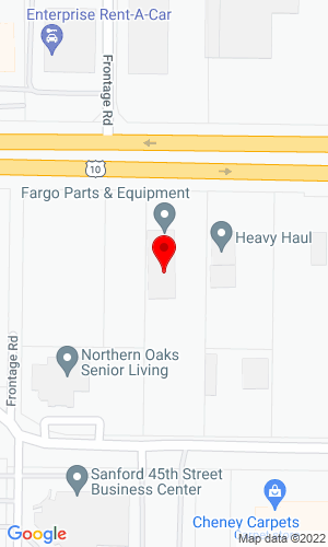 Google Map of Fargo Parts & Equipment 4408 Main Ave, Fargo, ND, 58103