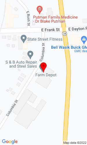 Google Map of Farm Depot Ltd. 275 Columbia Street, Caro, MI, 48723