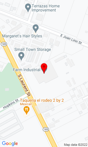 Google Map of Farm Industrial 514 South Laurent Street, Victoria, TX, 77901