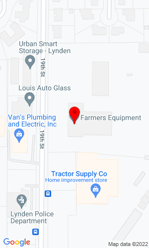 Google Map of Farmers Equipment Company 401 19th Street, Lynden, WA, 98264