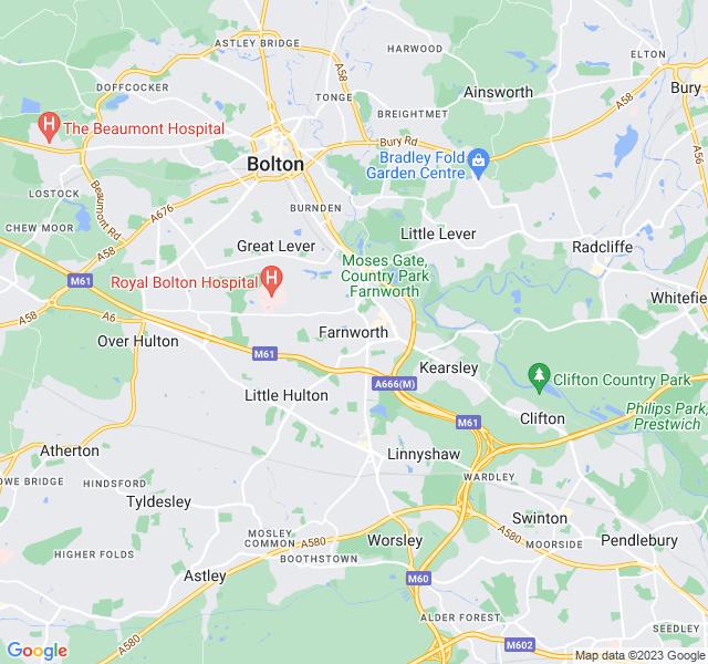 Website Designer Farnworth Google map of location