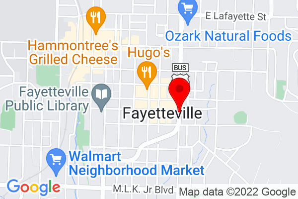 Google Map of Fayetteville, AR