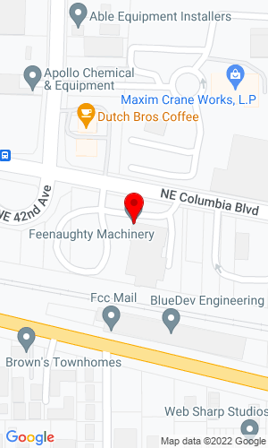 Google Map of Feenaughty Machinery Co. 4800 NE Columbus Blvd, Portland, OR, 97218,