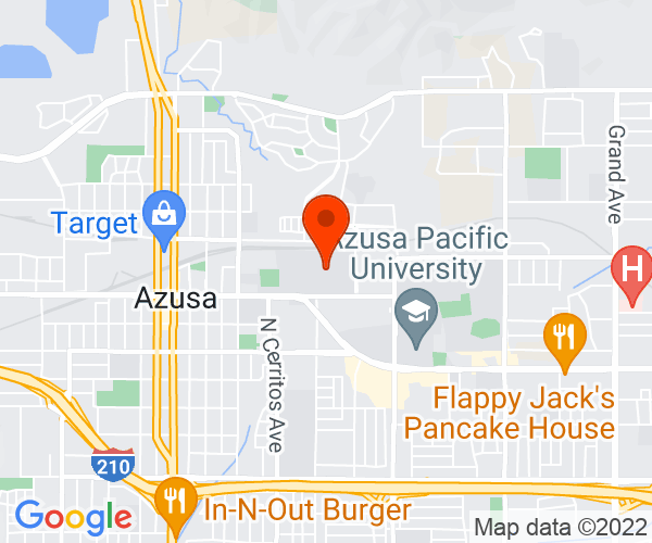 Google Map of Azusa Pacific University