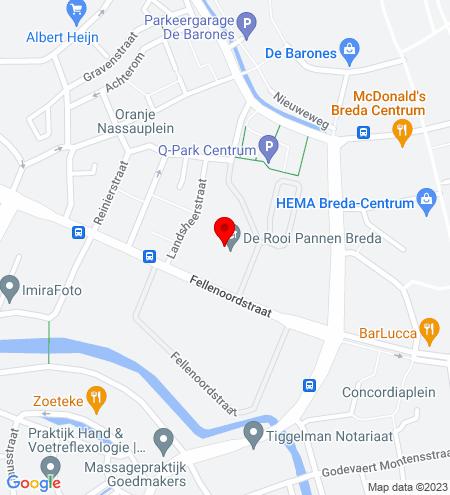 Google Map of Fellenoordstraat 93D 4811 TH Breda
