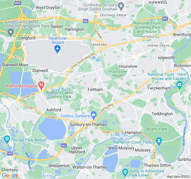 Website Designer Feltham Google map of location