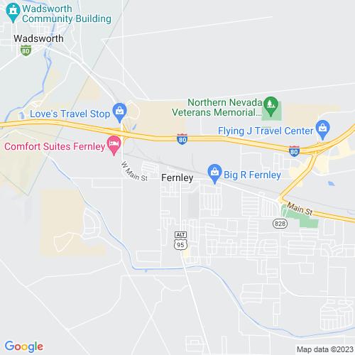 Map of Fernley, NV