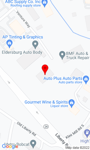 Google Map of Finch Services Elderberg's 9 Venture Way, Eldersberg, MD, 21874
