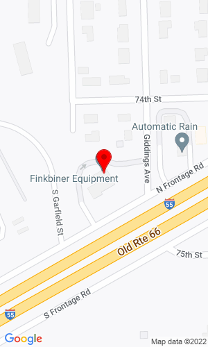 Google Map of Finkbiner Equipment Co. 15W400 North Frontage Road, Burr Ridge, IL, 60527,
