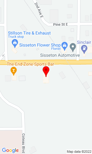 Google Map of First Call Auto Parts 124 East Hickory Street, Sisseton, SD, 57262