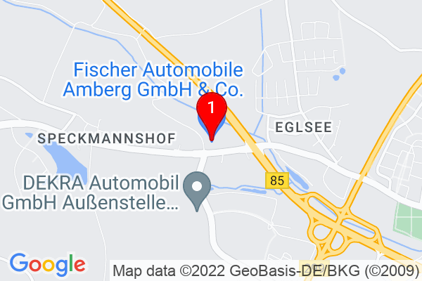 Google Map of Fischer Automobile Amberg GmbH & Co. KG Speckmannshofer Straße 2 92224 Amberg