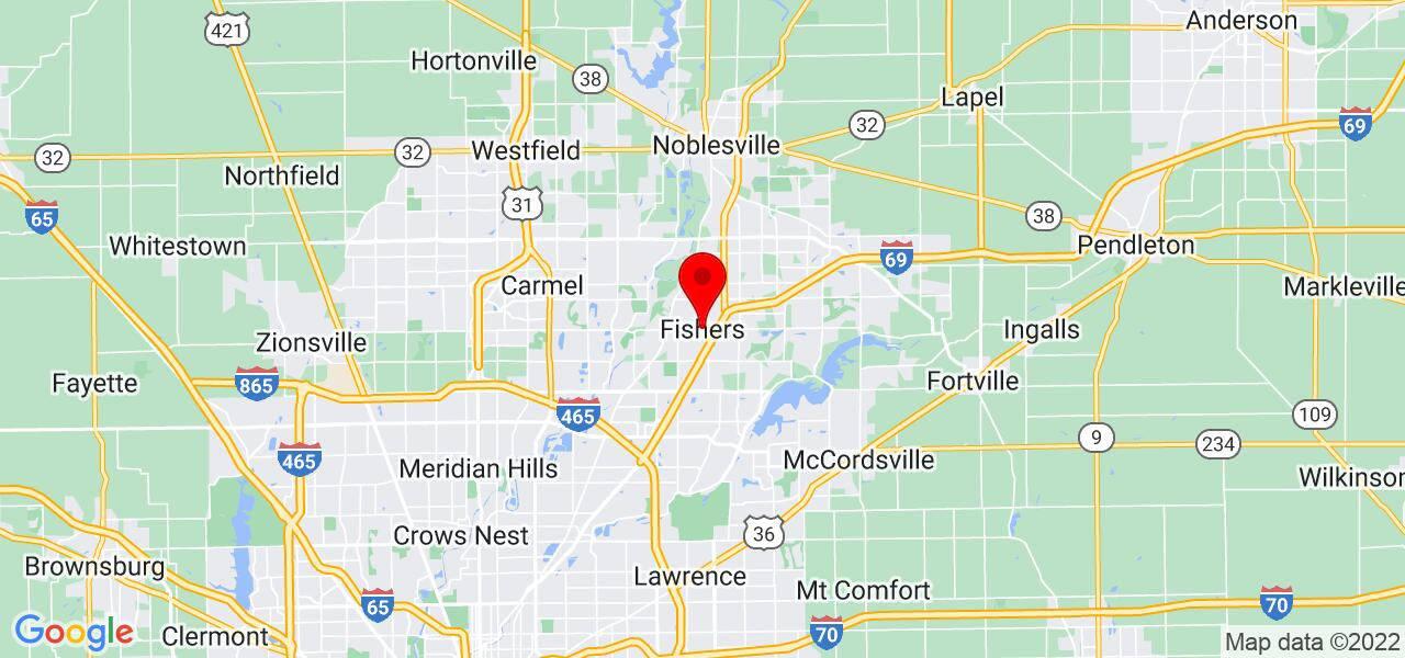 Google Map of Fishers, IN