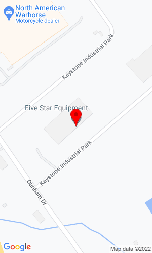 Google Map of Five Star Equipment, Inc. 1300 East Dunham Drive, Dunmore, PA, 18512