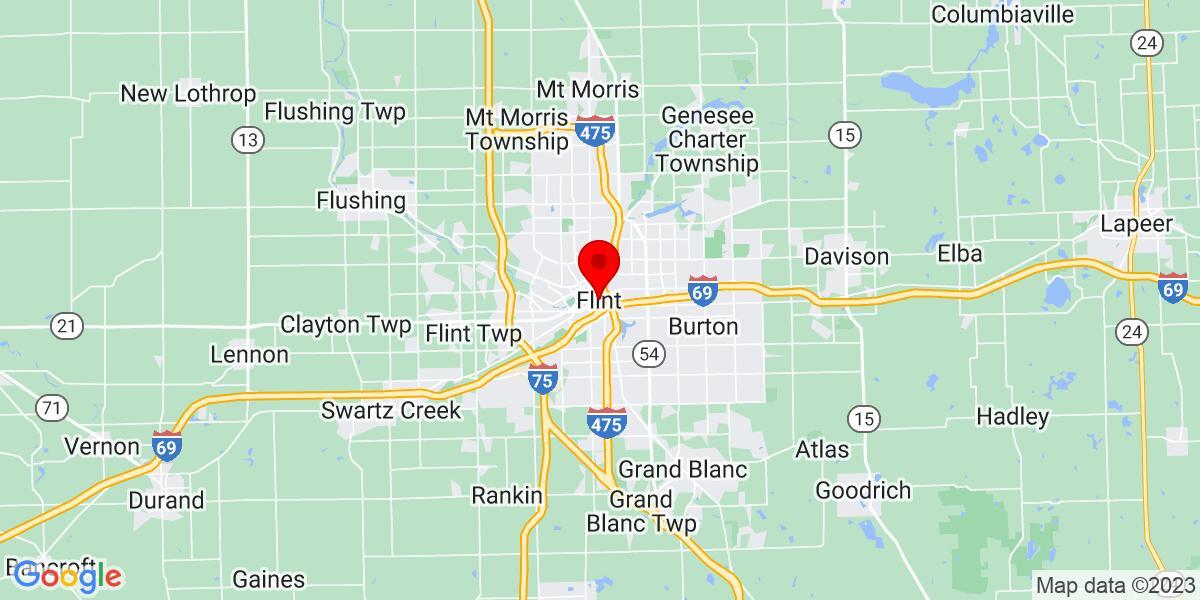 Google Map of Flint, MI