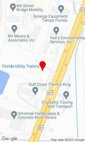 Google Map of Florida Utility Trailers, Inc. 7808 N US 301, Tampa, FL, 33637,