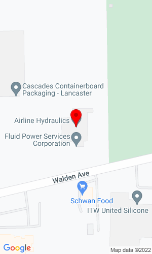 Google Map of Fluid Power Service Corporation 4474 Walden Avenue, Lancaster, NY, 14086