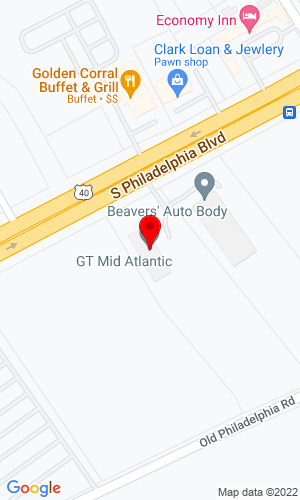 Google Map of Folcomer Equipment Corporation 629 S Philadelphia Blvd., Aberdeen, MD, 21001-0340