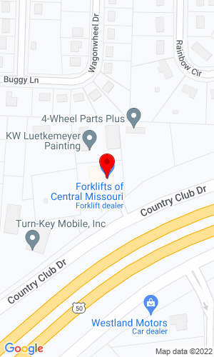 Google Map of Forklifts of Central Missouri P. O. Box 1731, Jefferson City, MO, 65102-1731,