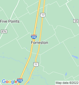 Forreston TX Map