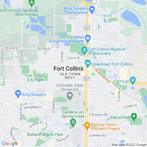 Map of Fort Collins, CO