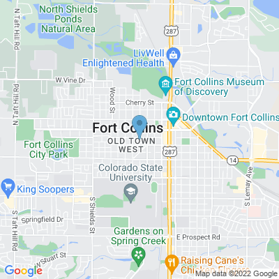 Google Map of Fort Collins, CO