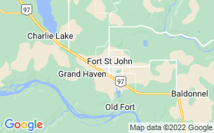 Map of Fort St John Rotary RV Park