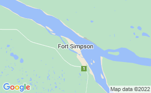 Map of Fort Simpson Territorial Park
