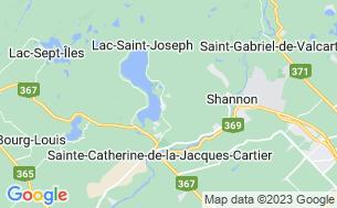 Map of Plage Lac St-Joseph