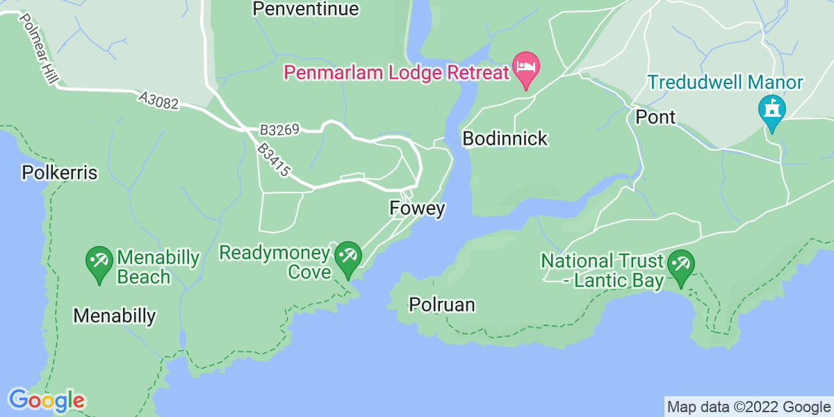 Map: Paraplanner job role in Fowey