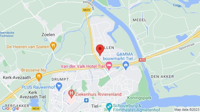 Mulders+Tiel op Google Maps