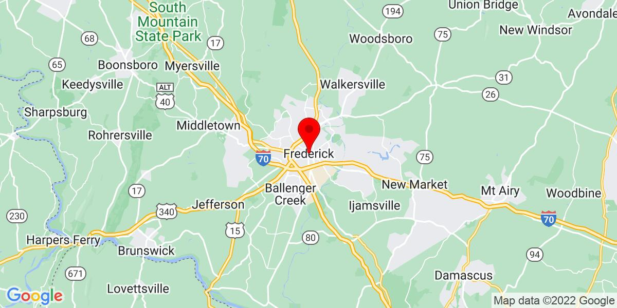 Google Map of Frederick, MD