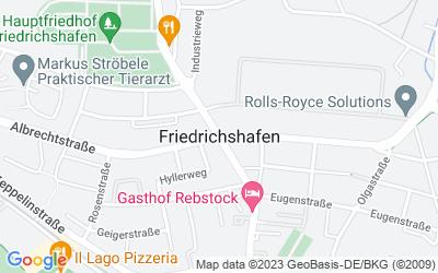 Map of Friedrichshafen, Deutschland