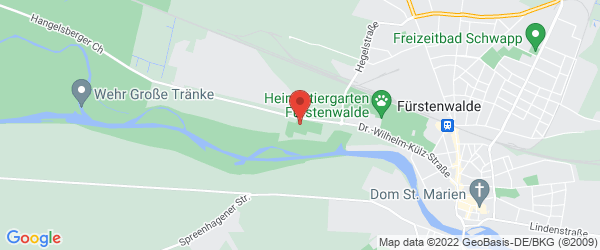 Google Map of Friesenstadion Fürstenwalde