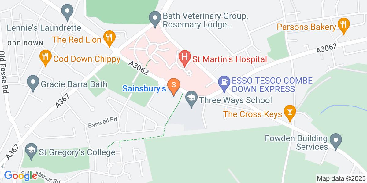 Google Map of Frome Road Bath BA2 5RF